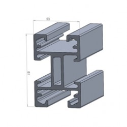 Alphastrut aluminium support system - Section AC-04 data sheet.